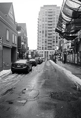 Belair St. in the Winter (Bill Smith1) Tags: believeinfilm billsmithsphotography canonnewf1 fdn28f28lens hc110b heyfsc kodaktrix4001600 toronto
