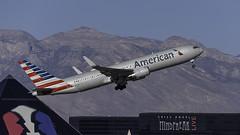 N385AM_LAS_Takeoff_1R (MAB757200) Tags: americanairlines b767323er n385am aircraft airplane airlines airport jetliner las klas takeoff runway1r boeing