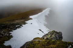 find the right path... (Einir Wyn Leigh) Tags: landscape mountains wales snow weather valley walking cloud mist rocks outside