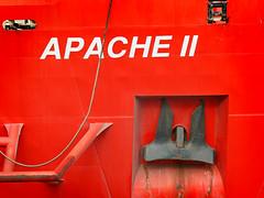 IMG_1881 (bob_rmg) Tags: edinburgh leith sea ship apache red anchor abstract dock