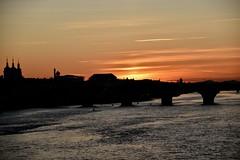 Sunset over the Old Bridge (sharon.corbet) Tags: heidelberg oldbridge sunset neckar riverneckar bridge badenwürttemberg germany 2019