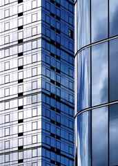 Kind Of Blue (nrg_crisis) Tags: building architecture abstractarchitecture windows reflections lines curves skyscrapers clouds sky manhattan hudsonyards nyc sonydschx9v