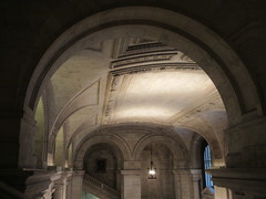 New York Public Library Entrance Hall Lobby 3641 (Brechtbug) Tags: new york public library entrance hall lobby 5th ave facade city interior stairs staircase stone marble 2019 nyc 03122019 art architecture designed by artist sculptor paul wayland bartlett carved the piccirilli brothers was two lions main branch stephen a schwarzman building consolidation astor lenox libraries beaux arts design style