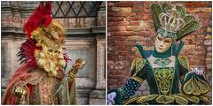 Venezia ... la seconda coppia ... (miriam ulivi - OFF/ON) Tags: miriamulivi nikond7200 italia venezia carnevale2019 maschereveneziane verde green rosso red oro gold febbraio2019 february2019 venetianmasks