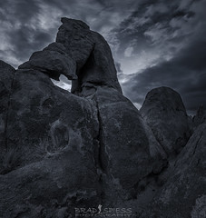 Sentinel (ihikesandiego) Tags: lone pine california alabama hills eastern sierras boot arch blackandwhitephotography sunrise