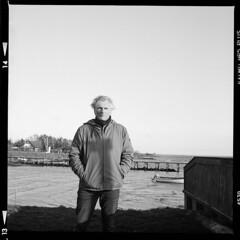 Fejø Portrait (tiltdesign2016) Tags: fejø fejo dänemark denmark ilfordhp5400asa 400800 analogphotography bw mittelformat yashicamat124g ilfordilfosol319 self tiltdesign dybvighavn