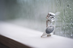 """""""Into each life some rain must fall."""" - Henry Wadsworth Longfellow (Shelly Corbett Photography) Tags: rain depthoffield stormtrooper kite lego legography toyphotography toys"""
