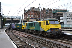 Freightliner 90041 & 90045 (Will Swain) Tags: carlisle station 29th september 2018 west coast main line mainline cumbria north lake district lakes county train trains rail railway railways transport travel uk britain vehicle vehicles england english europe freightliner 90041 90045 class 90 041 045 41 45