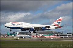 G-CIVB Boeing 747-436 British Airways (elevationair ✈) Tags: dublin airport dublinairport dub eidw airliners airlines avgeek aviation arrival landing sun sunshine runway ba speedbird britishairways jumbo jumbojet lump boeing 747 744 boeing747436 gcivb fourholer