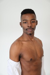 J.R. # 10 (just.Luc) Tags: man male homme hombre uomo mann barechested shirtless torsenu portret portrait ritratto retrato porträt afrikaan africain afrikaner african face gezicht visage gesicht handsome attractive mand