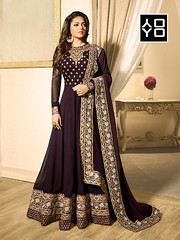 Brown Georgette #AnarkaliSuit #YOYOFashion Online Shopping. (yoyo_fashion) Tags: fashion style wedding shopping designer outfitoftheday stylist shoppingonline indianwedding womenfashion ethnic indianfashion offer indianwear ethnicwear designerwear