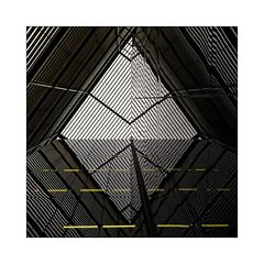 Black Diamond (Jean-Louis DUMAS) Tags: reflecting réflection reflets bâtiment building londres london artistique frame square carré losange abstrait abstraction abstract artistic art architecte architectural architecture architect yellow black diamond