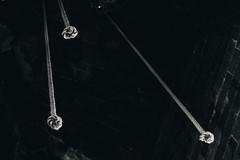 Tightrope (FButzi) Tags: genova genoa liguria italy italia san lorenzo corde ropes bells bw