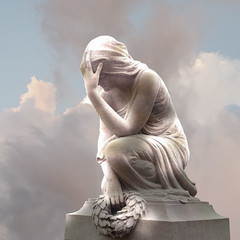 afterlife (Danielle_Swain) Tags: clouds statue stone light life death