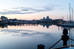 DSCF4420 (FNshutter) Tags: fujifilmx100f x100f victoria bc harbour pier reflection chain water dusk boats clouds