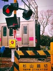 214K418M (murozo) Tags: railroad crossing train railway uetsu main line nikaho akita japan 踏切 電車 線路 羽越本線 鉄道 にかほ 秋田 日本