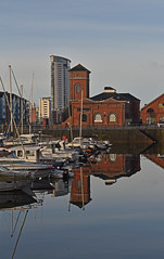 Wales - Swansea - Waterfront (Harshil.Shah) Tags: swansea wales abertawe cymru waterfront reflection harbour marina tower water britain great uk gb unitedkingdom swanseabay glamorgan boat dock docks quay boats harbor historic historical heritage architecture building buildings