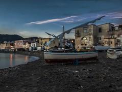 Fishermen's seaside at dawn (Nunzio Pascale) Tags: dawn alba fishermensbeach mandra borgodiischiaponte d90nikon nikkor18200 cullmannmundo522t spiaggiadeipescatori barcaavela vela lido