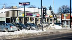 Strip Mall (caribb) Tags: montreal montréal quebec québec canada urban city 2019 street streets eastend mercierhochelaga mercier stripmall stores shops signs sunny cars vehicles