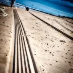 TRACES IN THE SAND -  Domburg beach - NL thumbnail