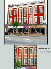 Masonic  Temple - Lockport  - New York  - Red Jacket Lodge No. 646 (Onasill ~ Bill Badzo - 60 Million Views - Thank Yo) Tags: lockport ny masonic temple historic building storefronts fraternal organization freemasons niagara county orleans onasill western commercial architecture mainst facade botherhood red brick buildings block district symbols jacket lodge no 646 ipad freemasonary masons outdoor photo border text
