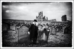 IMG_0169 (Scotchjohnnie) Tags: whitbygothweekendapril2018 whitbygothweekend wgw wgw2018 whitby yorkshire northyorkshire goth gothic costume portrait male stmarysgraveyard stmaryschurch graveyard gravestones graves tombstone memorial whitbyabbey blackwhite mono monochrome canon canoneos canon6d canonef24105mmf4lisusm scotchjohnnie