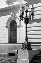 Lamp in front of the Secretariat of Justice of São Paulo (elcio.reis) Tags: lamp sãopaulo nikon luminária brasil urbano bw blackwhite vintage pb brazil urbex light