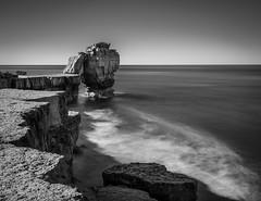 Pulpit rock (paullangton) Tags: dorset jurassic rocks sky sea portland bill pulpitrock mono monochrome bw blackandwhite longexposure landscape seascape leefilters stopper coast coastal