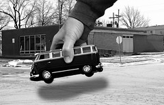 Thank You! (Mr_Camera71) Tags: funny humor bw black white van vw volkswagen aedimages canon photoshop compositing