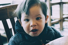 Grandson - 263 (oterrason) Tags: grandson kid child children family boy cute smart coffeeshop cafe espresso muffin blueberry baby infant toddler mzuiko17mmf18 olympuspenep5 portrait candid