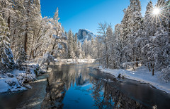 Yosemite Winter Half Dome Merced River Sentinel Bridge Fresh Snow Blue Skies Winter Storm Photography! Sony A7R III & FE 16–35 mm G Master Wide-Angle Zoom Lens SEL1635GM Winter Snow Fine Art!  Yosemite National Park Winter Snow California Landscape! (45SURF Hero's Odyssey Mythology Landscapes & Godde) Tags: yosemite winter half dome merced river sentinel bridge fresh snow blue skies storm photography sony a7r iii fe 16–35 mm g master wideangle zoom lens sel1635gm fine art national park california landscape