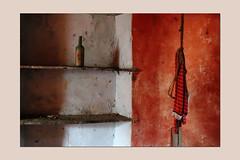 dialogues (sandrorotonaria) Tags: bottle shirt red old ciociaria abbandoned ruin