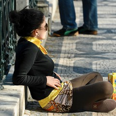 Girl enjoying the Lisbon sun (pedrosimoes7) Tags: miradourodesãopedrodealcantara lisbon portugal viewingpoint crossedlegs creativecommons candid girlprofile portrait portraitworld portraiture streetpeoplecandidpictures