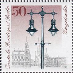 Deutsche Briefmarken (micky the pixel) Tags: briefmarke stamp ephemera deutschland bundespost berlin strasenbeleuchtung laterne lantern gashängeleuchte