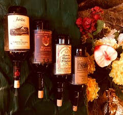 Interior design (born to be an artist) Tags: vintage retro decoration creativedecorations interiordesign flowers bottles liquors cabernetsauvignon wines