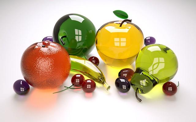 Обои фрукты, стекло, разноцветный, коллекция картинки на рабочий стол, фото скачать бесплатно