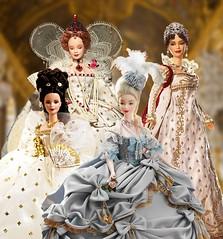 Women of Royalty (Paul BarbieTemptation) Tags: limited edition women royalty gold label marie antoinette empress josephine sissi elizabeth queen barbie