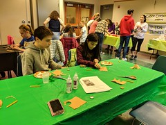 MVIMG_20190314_155308 (Billerica Public Library's Photostream) Tags: billericapubliclibrary youngadultprogram pie day pi table talk 314
