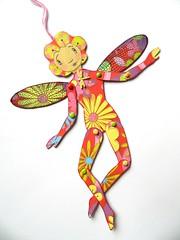 Fairy (JuliaPeculiart) Tags: fairy paper doll articulated fae faery faerie pixie papercraft handmade juliapeculiar fantasy artdoll wings fairytale