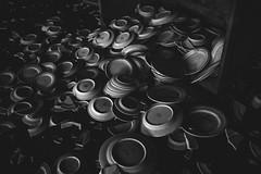 Spilled Plates (IAmTheSoundman) Tags: abandoned urbanexploring pennsylvania urbex chinafactory factory clutter messy sony a99 takumar vintagelens m42 manualfocus