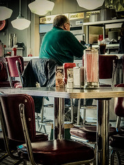 Johnny Rocket's Lunch Break (lclower19) Tags: iphone 119in2019 15 j johnnyrockets diner freeport maine lunch