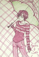 Purple~ (HiCKarPu) Tags: haru hickarpu anime oc originalcharacter art traditionalart drawing
