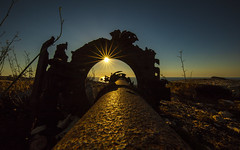 Piped Sunset (CraDorPhoto) Tags: canon5dsr landscape sunset sun starburst pipe outside outdoors gozo malta
