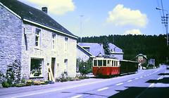 Slide 135-63 (Steve Guess) Tags: tram tramway streetcar strassenbahn strasenbahn трамвай nmvb sncv vicinal belgium belgique belgien belgië бельгия grottes han caves diesel ardennes hansurlesse