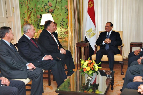 Secretary Pompeo meets with President of the Arab Republic of Egypt El-Sisi
