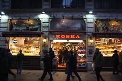 Koska (lazy south's travels) Tags: istanbul turkey turksish food shop cafe dark dusk road street scene beyoglu district urban