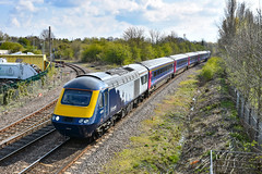 43015 + 43181 - March - 13/04/19. (TRphotography04) Tags: scotrail hst powercars 43015 43181 topntail 4 exfgw mk3s past march working 5s08 0952 ely mlf papworth sidings perth ecs move