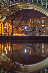 Cleveland Lorenzo Cabin (dennisgg2002) Tags: cleveland ohio oh lorenzo log cabin river night water reflection