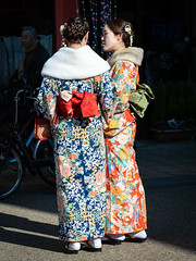 Kimono Girls (mdalmuld) Tags: tokyo asakusa kimono japan girls traditional portrait olympus em1 m43 omd colourful people