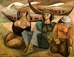 Women on the beach (1950) - Julio Pomar (1926 - 2018)